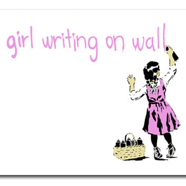 Rene Gagnon - Girl Writing On Wall