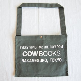 COW BOOKS - Shoulder Tote #green