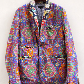 Engineered Garments - Tux Jacket-Multicolored Print/Psychedelic