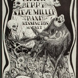 Lee Conklin for Bill Graham - Original poster  Chuck Berry at Fillmore West 9/5-7/68 by Lee Conklin