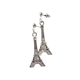 So Charm - Boucles d'oreilles Tour Eiffel strass