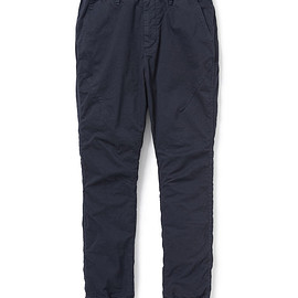 nonnative - ADVENTURER EASY RIB PANTS TAPERED FIT C/P CHINO STRETCH OVERDYED