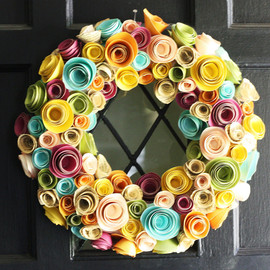Fourth In Line - Paper Flower Wreath- Multi-Color