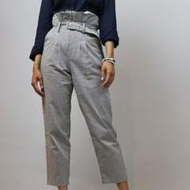 wantsonline - Striped High Waisted Casual Pants