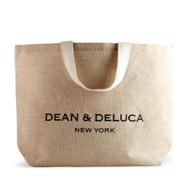 DEAN & DELUCA - DEAN & DELUCA Large Natural Cotton Jute New York Tote