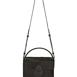 ALEXANDER WANG - Racketeer Sling In Black Haircalf With Matte Black Thumb