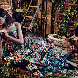 Matthew Williamson - Matthew Williamson Rainbow Morris Floral‑print Cotton‑blend Gown