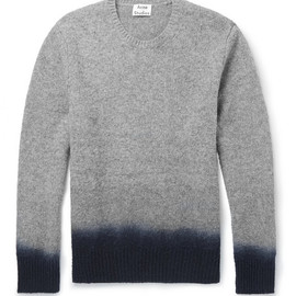 Acne Studios - Dip-Dye Mélange-Knit Wool Sweater