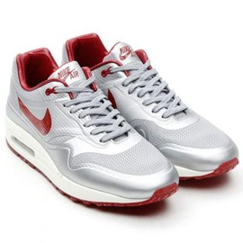 Nike - NIKE AIR MAX 1 HYPERFUSE QS METALLIC SILVER/DEEP RED-SAIL