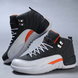 "Restock of Jordan 12 Retro ""Orange"" and White - Grey - Female Basketball Sneakers"