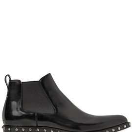 GIVENCHY - CHELSEA STUDDED BRUSHED LEATHER BOOTS