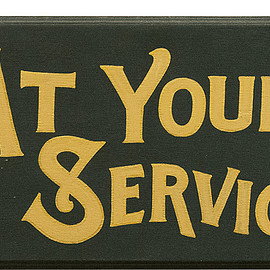 Naturally × NOTEWORKS - Naturally -At Your Service Sign Plate-