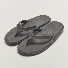 ISLAND SLIPPER  × BEAUTY&YOUTH - NUBUCK SANDAL / BLACK