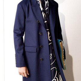 BURBERRY PRORSUM - SS2015 BONDED CASHMERE CHESTERFIELD