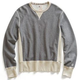 Todd Snyder - Grey Heather Reverse Weave Sweatshirt