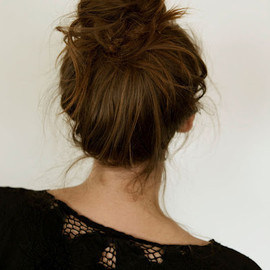 Messy French bun - hair