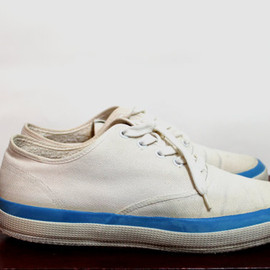 70s 80s SUPERGA Canvas Shoes Lace Up Sneakers Kicks Made in Italy Vintage 1970s 1980s Mens 7.5 40