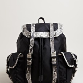 DAMIR DOMA, ダミール・ドーマ - MEN'S BANDO PYTHON LEATHER BACKPACK