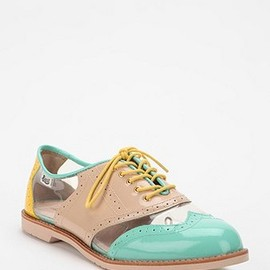 Rachel Antonoff - Rachel Antonoff X Bass Cutout Patent Leather Oxford