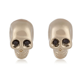 GIVENCHY - Skull earrings in pale gold-tone and crystal