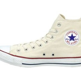 All Star Hi Monochrome Leather White