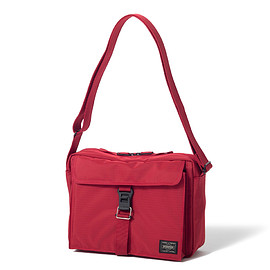 "HEAD PORTER - ""ARNO"" SHOULDER BAG RED"