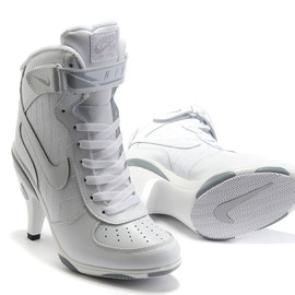 NIKE - White Air Force 1 High Heels