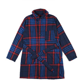 ENGINEERED GARMENTS - Robe-Oversize Plaid-Dk.Navy×Red