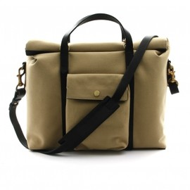 MISMO - 《MEN'S》MISMO/BEIGE AND DARK BLUE MS SOFT WORK BAG 1
