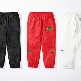 Supreme, NIKE - Leather Warm Up Pant