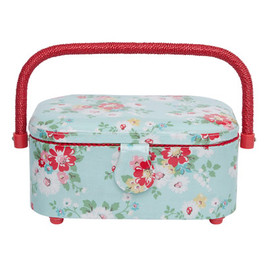 キャスキッドソン - Bright Daisies Small Oval Sewing Sewing Basket
