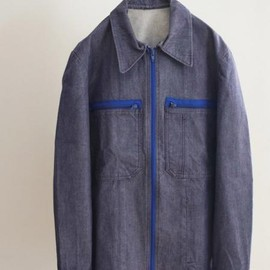 LILY1ST VINTAGE - 1980's deadstock french military denim blouson
