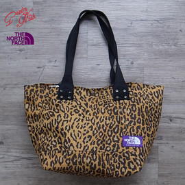 THE NORTH FACE PURPLE LABEL - LEOPARD PRINT TOTE BAG