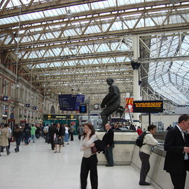 London - Waterloo Station concourse