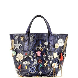 MARC JACOBS - SS2016 Wingman Mini embellished embossed leather shopper