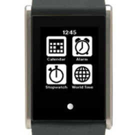PHOSPHOR - Touch Time Digital Watch with Black Silicone Band