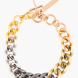 GIVENCHY - Galvanized curb chain bracelet
