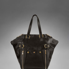 Yves Saint Laurent - Medium YSL Downtown in Chocolate Classic  Leather
