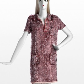 LANVIN - Polo dress in summer tweed