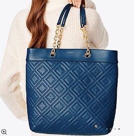 TORY BURCH - Fleming Medium Symphony Blue Tote Bag