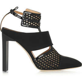 REED KRAKOFF - Mesh, rubber and patent-leather pumps