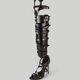 TOM FORD - Strappy Buckled Sandal Boot, Black