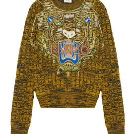 KENZO - TIGER EMBROIDERY WOOL SWEATER
