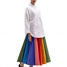 Levi's RED - リーバイス(Levi's)ロングスカート Levi's Red Women's Rainbow Cotton Full Circle Reversible Skirt 1