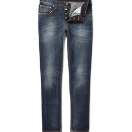 nudie jeans - Nudie Jeans Grim Tim Slim-Fit Distressed Jeans