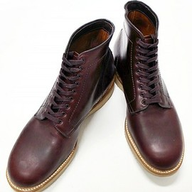 Alden - WINE LABEL HORWEEN 9アイレットブーツ