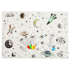 ZARA HOME KIDS - Kids Laminated Space Place Mat (For painting)