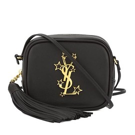 Yves Saint Laurent - Saint Laurent Monogram Star Studded Blogger Bag In Leather Black