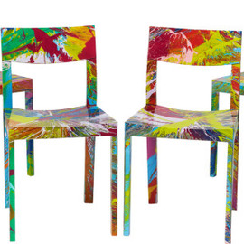 Damien Hirst - Six Beautiful Self-Indulgent Spin Chairs