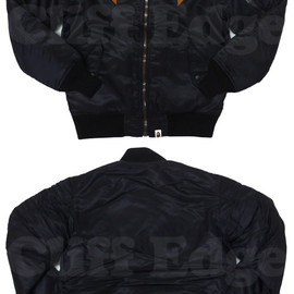 A BATHING APE - ABATHINGAPE(エイプ)FLIGHTジャケット【新品】BLACK229-000049-031[1870-141-038]-【smtb-TD】【yokohama】
